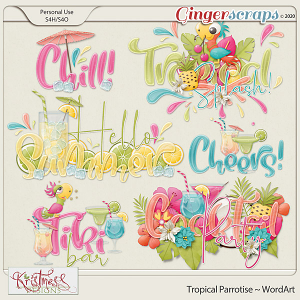 Tropical Parrotise WordArt