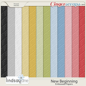 New Beginning Embossed Papers by Lindsay Jane