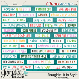 Roughin' It In Style {Wordy Bits} by Jumpstart Designs
