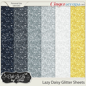 Lazy Daisy Gliltter Sheets