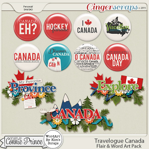 Travelogue Canada  - Word Art & Flair Pack
