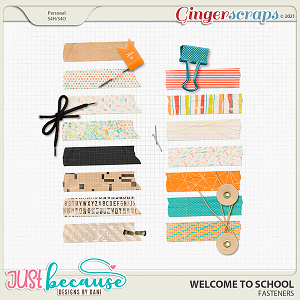 Welcome To School Fasteners by JB Studio