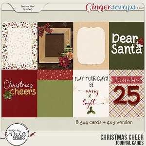 Christmas Cheer - Journal Cards - by Neia Scraps