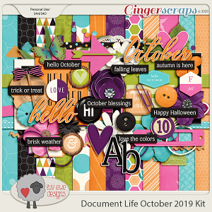 Document Life October 2019 Kit by Luv Ewe Designs