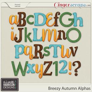 Breezy Autumn Alpha Sets by Aimee Harrison