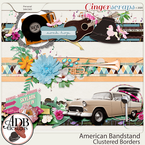 American Bandstand Cluster Borders by ADB Designs