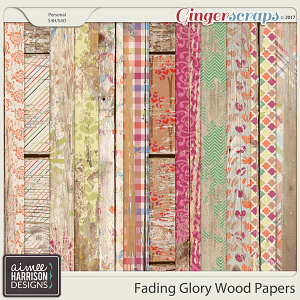 Fading Glory Wood Papers by Aimee Harrison