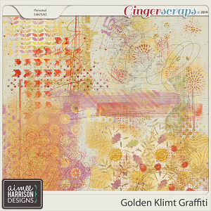 Golden Klimt Graffiti by Aimee Harrison
