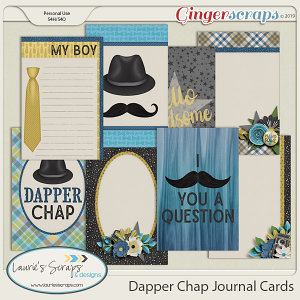 Dapper Chap Journal Cards