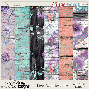 Live Your Best Life: Worn Out Papers by LDragDesigns