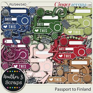 Passport to Finland ACCENTS by Heather Z Scraps