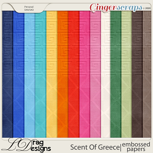 Scent Of Greece: Embossed Papers by LDragDesigns