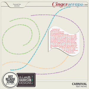 Carnival Messy Text Paths by JB Studio and Aimee Harrison Designs