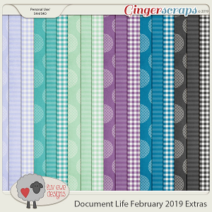 Document Life February 2019 Extra Papers by Luv Ewe Designs