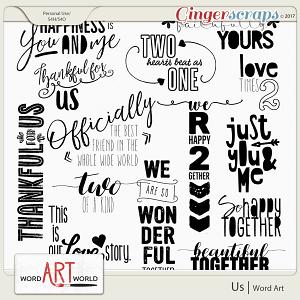 Us Word Art