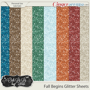 Fall Begins Glitter Sheets