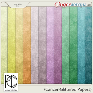Cancer (Glittered Papers)