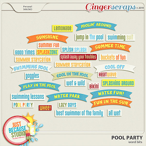 Pool Party Word Bits by JB Studio