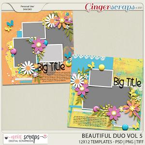 Beautiful Duo - Templates - VOL 5 - by Neia Scrap
