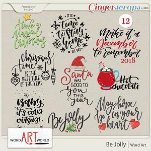 Be Jolly Word Art