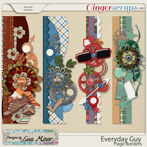 Everyday Guy Page Borders from Designs by Lisa Minor