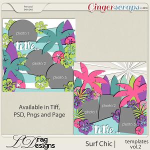 Surf Chic: Templates Vol. 2 by LDragDesigns