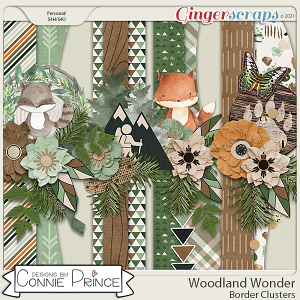 Woodland Wonder - Borders by Connie Prince