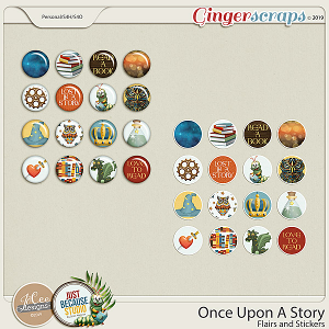 Once Upon A Story Flairs and Stickers by JoCee Designs and Just Because Studio