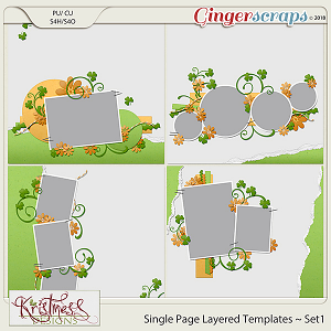 Single Page Layered Templates ~ Set1