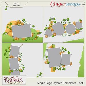 Single Page Layered Templates ~ Set1