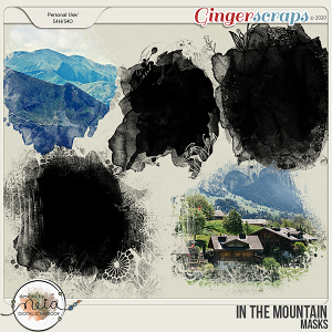 In The Mountain - Masks - by Neia Scrap