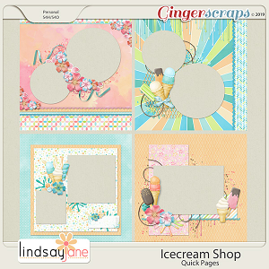 Icecream Shop Quick Pages by Lindsay Jane