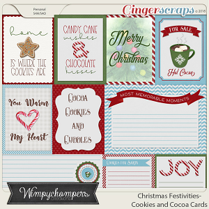 Christmas Festivities- Cookies and Cocoa Cards
