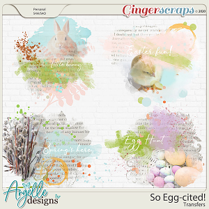 So Egg-cited! Transfers by Angelle Designs