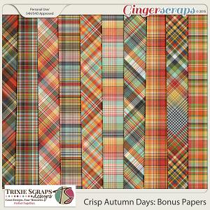 Crisp Autumn Days Bonus Papers by Trixie Scraps Designs