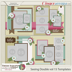 Seeing Double volume 15 Template Pack by Trixie Scraps Designs