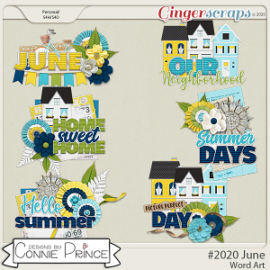 #2020 June - Word Art Pack by Connie Prince
