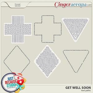 Get Well Soon Text Paths by JB Studio
