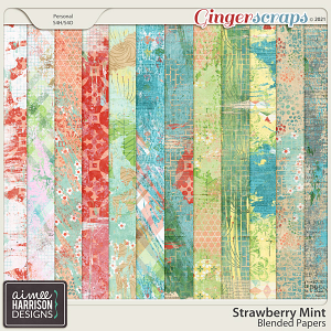 Strawberry Mint Blended Papers by Aimee Harrison