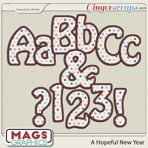 A Hopeful New Year ALPHA by MagsGraphics