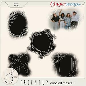 Friendly doodled masks