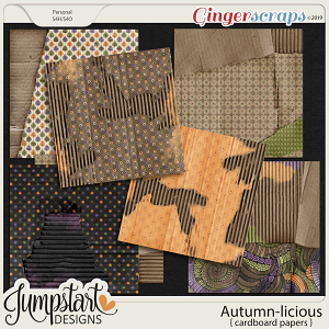 Autumn-licious {Cardboard Papers} by Jumpstart Designs