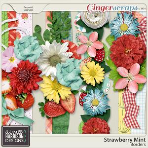 Strawberry Mint Borders by Aimee Harrison