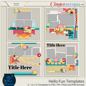 Hello  Fun Templates by Miss Fish
