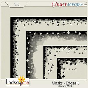 Masks Edges 5 by Lindsay Jane