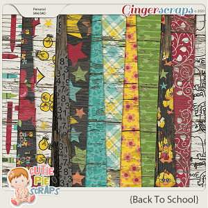 Back To School Wood Papers
