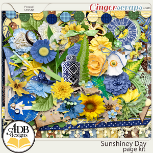 Sunshiney Day Page Kit by ADB Designs