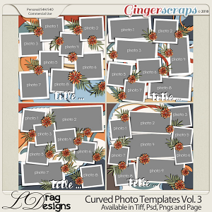 Curved Photo Templates Vol. 3 by LDrag Designs