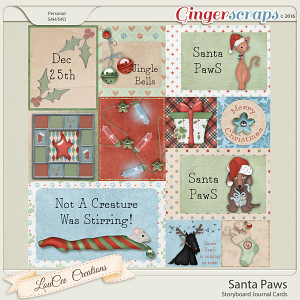 Santa Paws Storyboard Cards