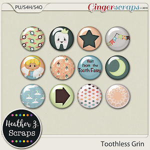 Toothless Grin FLAIRS by Heather Z Scraps